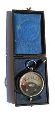 Antique Pocket Voltmeter In Original Box