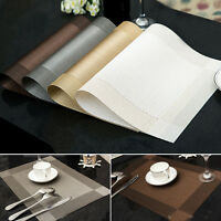 Set of 6 PVC Insulation Bowl Tableware Placemats Place Mat Table Coasters Dining