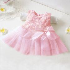 Newborn Baby Girl Tutu Dress Princess Party Lace Flower Dresses Wedding 0-12M