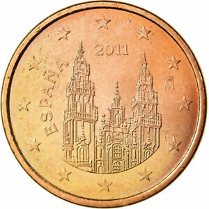 [#699777] Espagne, 5 Euro Cent, 2011, SUP, Copper Plated Steel, KM:1146