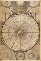 Map Cosmology Wright 1742 Universe Synops (2) Large Replica Canvas Art Print