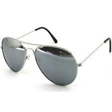 Argento Specchiato Specchio Stile Aviatore Occhiali Da Sole Protezione UV Signore Mens WOMANS