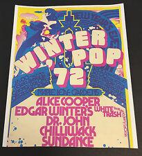 1972 Winter Pop Rock Flyer Promo Vtg Alice Cooper-Edgar Winter Chilliwack+