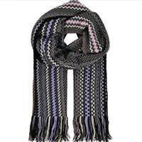 MISSONI Wool Blend Zig Zag Scarf - Multicoloured -£175