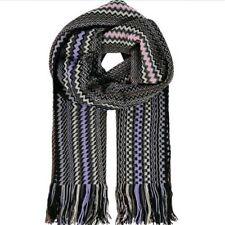 MISSONI Wool Blend Zig Zag Scarf - Multicoloured -£175
