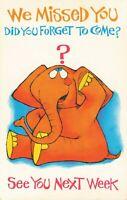 Postcard We Missed You Elephant