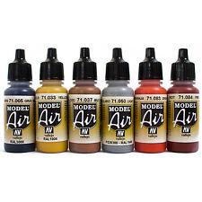 Vallejo Airbrush Farben Set 6x 17ml *Bunt Airbrushfarben Acrylfarben