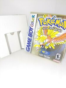 Pokemon: Gold Version (Game Boy Color, 2000) BOX & INSERTS ONLY