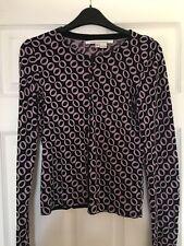 Diane von Furstenberg silk cashmere blend cardigan black purple geometric print