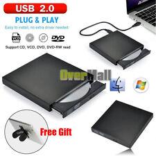 Portable USB 2.0 External DVD-RW CD-RW ROM Drive Burner Writer Reader Ultra Slim