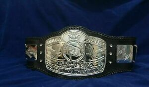 NWA US CHAMPIONSHIP TITLE BELT IN 4MM ZINC NICKEL PLATED ADULT SIZE
