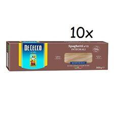 10x Pasta De Cecco spaghetti integrali n. 12 Vollkorn italienisch Nudeln 500 g