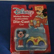 DISNEY Mickey Mouse da Collezione Diecast Auto ancora in confezione arco Toys