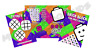 Pack of 12 - Girls Brick Fun and Games Activity Sheets - Party Bag Fillers