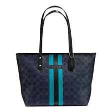 Paypal Coach Bag F38405 Coach Varsity Stripe City Zip Signature Tote Agsbeagle