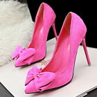 Women's Pointed toe Stiletto heels Shallow mouth Bowknot Fashion high heel shoes