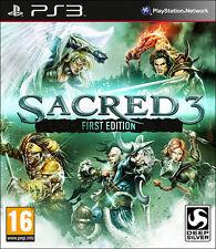 Sacred 3 Primera Edición PS3 * Nuevo y Sellado *