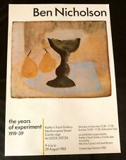 Ben Nicholson POSTER The years of experiment 1919-39 1983 ART POSTER