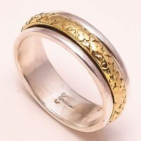 925 Sterling Silver Spinner Ring Meditation Ring statement Ring All Size HH502