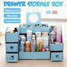 w/Mirror Makeup Dress Box Cosmetic Organizer Drawer Jewelry Holder Storage Case