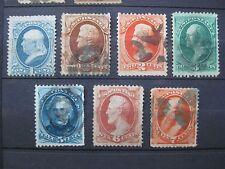 timbres Etats-Unis : 1871 - 1875