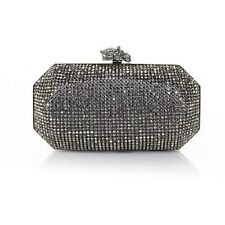 "Real Collectibles by Adrienne ""Remarkable"" Jeweled Evening Bag Gunmetal NEW"