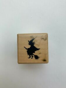 """Petaluma PSX Designs Witch Wooden Rubber Stamp A-950 1988 1x1"""" Collectibles"""