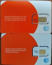 LOT of 10 NEW AT&T PREPAID GO PHONE 4G SIM CARD READY TO ACTIVATE, SKU 6006A