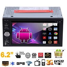 6.2'' Android5.1 3G WiFi 2DIN Car Radio Stereo DVD TV Player GPS Nav Bluetooth