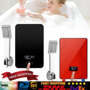 Elektrischer Durchlauferhitzer Warmwasser Digitalanzeige Tankless Bad Dusche NEU