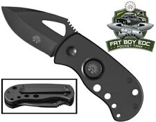 Fat Boy Blackout - Pocket Tank Edc Utility Knife with TiNi Coated Japanese Steel