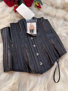 Leg avenue black under breast Corset bustier size S