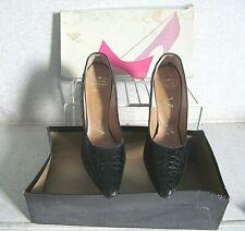Rare! Vintage Women'S Alligator Verdente Shoes in box! Heels 1960'S sz 8-1/2 Aa