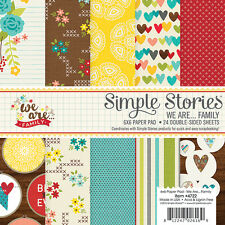 "New Simple Stories We are... Family 6"" x 6"" Paper Pad"