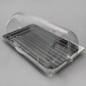 Roll Top Cover Tray Countertop Display Acrylic Bakery Donut Pastry Sample Case