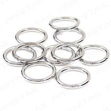 10 x Chrome 16mm Inner Diameter Metal Curtain Rings Small/Mini Loop/Hoop Silver