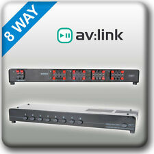 P6b1 av: link audio 8 MOYEN LOUD SPEAKER splitter commutateur sélecteur multi chambre stéréo