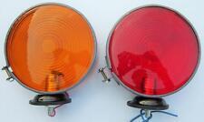 2x amber red warning side marker lamp 12v Massey Ferguson tractor metal frame