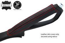 RED STITCH TOP GRAIN LEATHER HANDBRAKE COVER FOR MAZDA RX8 2003-2012 STYLE 2