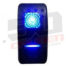 Blue Rocker Switch Laser Etched ON-ON-OFF 20A 12V LED Offroad Light 3 Positions