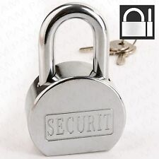 EXTRA STRONG STEEL PADLOCK +3 Keys 65mm Outdoor High Security Safety Lock Door