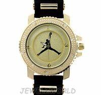 Mens Gold Michael Jordan Jumpman Logo Bullet Band Watch