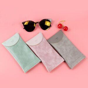 Soft Eyeglasses Glasses Case Box Sunglasses Portable PU Storage Organizer Bag