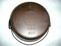~~GRISWOLD~ EIRE SLANT LOGO NO. 8 Dutch Oven CRACKED PITTED 833 cast iron #8 pot