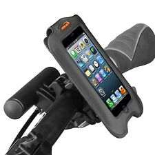 Ibera Bike Black Handlebar Smartphone Case Bar Clamp Mini Handlebar PB8Q2-BK