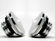 Gas Tank Cap Set For Harley Davidson Fat Bob Softail Split Tank Pointed Style