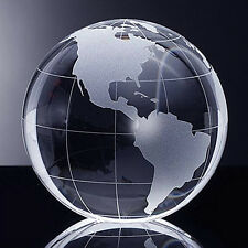 "High Quality Crystal Globe Paperweight 2.3"" with Gift Box"