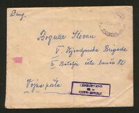 YUGOSLAVIA-SERBIA-PARTISAN CENSORSHIP-CONOPLJA-1945.