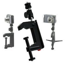 Portable Table Desk Mini Camera Mounting Clamp Tripod for Camera Camcorder DSLR