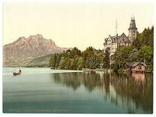 Hertenstein Schloss Lake Lucerne A4 Photo Print